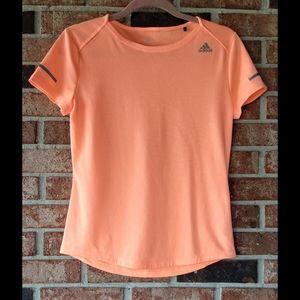 3/$20 Adidas Running Neon Orange Athletic Tee S